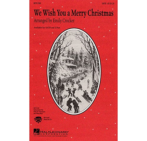 We wish you a merry Christmas - SATB - CHORAL SCORE