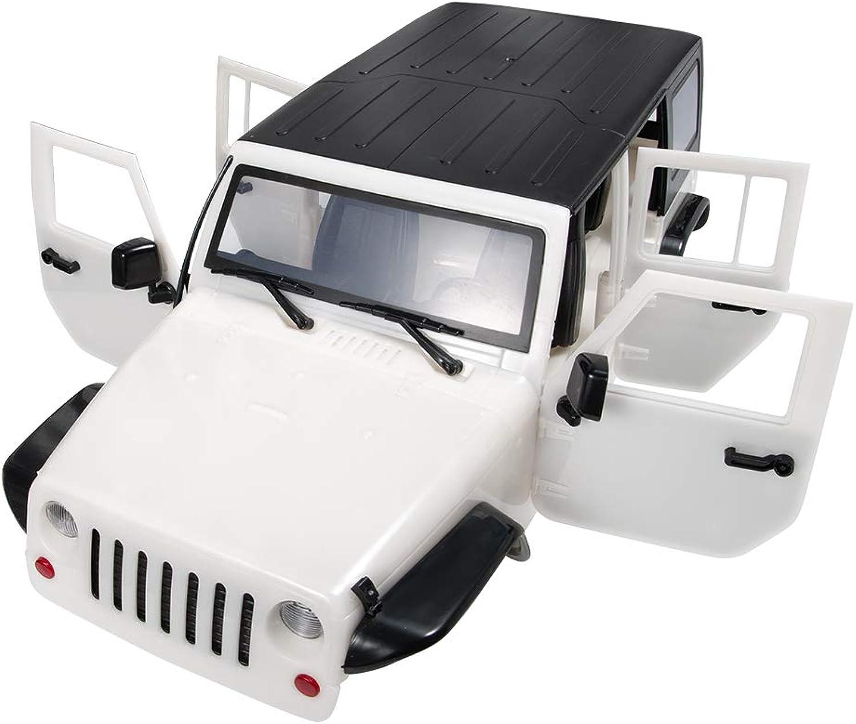 ZuoLan 313mm Car Body Shell Plastic for 1 10 RC Car Jeep Wrangler TRX4 Axial SCX10 II 90046 90047 (White)