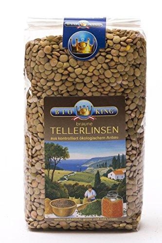BioKing 4 x 500g Bio TELLERLINSEN braun (EUR 3,49 / Pkg.)