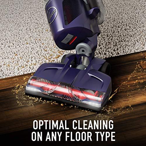 Hoover Power Drive Bagless Multi Floor Upright Vacuum Cleaner with Swivel Steering, for Pet Hair, UH74210PC, Purple