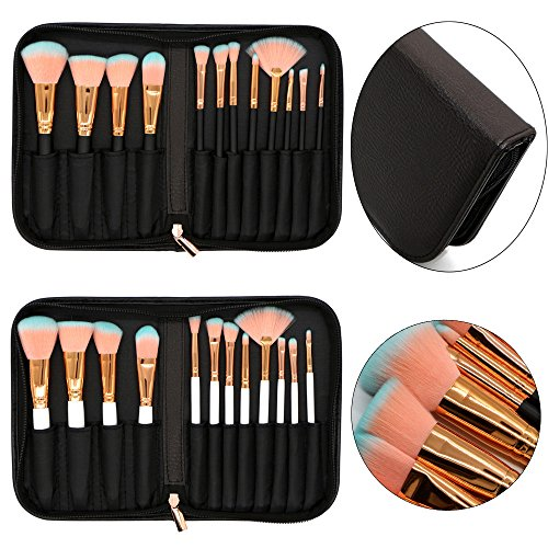 MEIYY Pinceau de maquillage Women'S Fashion Beauty 12 Pcs Pu Bag Makeup Brushes Set Eye Shadow Brush Cosmetics Blending Brush Tool