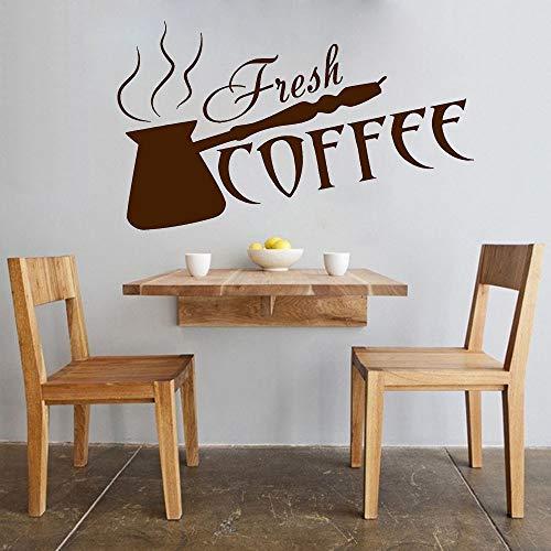 Etiqueta de la pared de café fresco Barra de café Barra de cocina Interior Art Deco Vinilo Etiqueta de la pared Etiqueta de vidrio para ventana