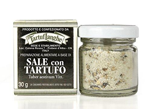 Tartuflanghe - SALT grau Guérande SUMMER mit schwarzem Trüffel (. Tuber aestivum Vitt) 30g