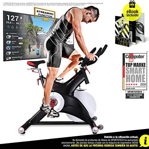 Sportstech Bicicleta estática Profesional SX500 -Marca de C