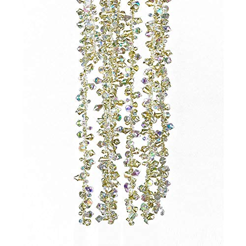 Kurt Adler Gold and Irridescent Bead Christmas Tree Garland (9 feet)