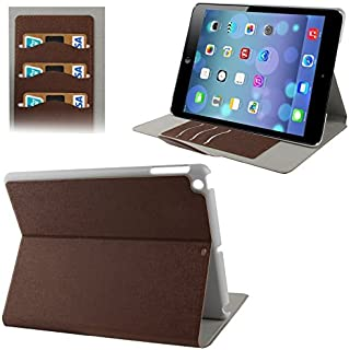 LFPING New Oracle Texture Flip Leather Case with Holder & Credit Card Slots for iPad Air (Color : Brown)