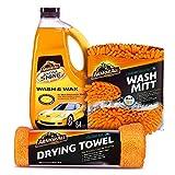 Armor All Car Wash Kit (3 Items) - Includes 64 oz Ultra Shine Wash & Wax Car Wash Soap, Wash Mitt &...