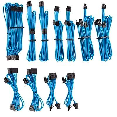 Corsair Premium Individually Sleeved PSU Cables Pro Kit for Corsair PSUs - Black, 2 Year Warranty