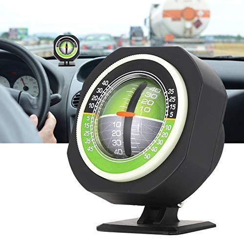 Indicador de pendiente, el ángulo de visión es medidor de pendiente ajustable con esfera luminosa para automóvil para viajes diarios
