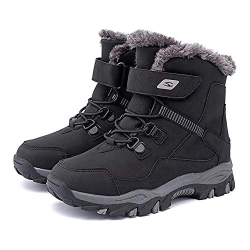 Kids Hiking Boots Boys Walking Boots Girls Winter Snow Shoes Warm Trekking Footwear Non-Slip Outdoor Cilmbing Boots