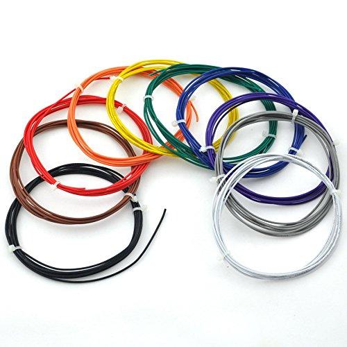 Electronics-Salon 10 Farben ul-1007 24 AWG Kabel Kit, 10 x 2 Meter