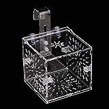 Caja de cría de Peces no tóxicos con diseño de succión, Cajas de incubación de Acuario ecológicas Colgantes, para Peces bebés Pez Payaso bebé Guppy(10CM*10CM*10CM)