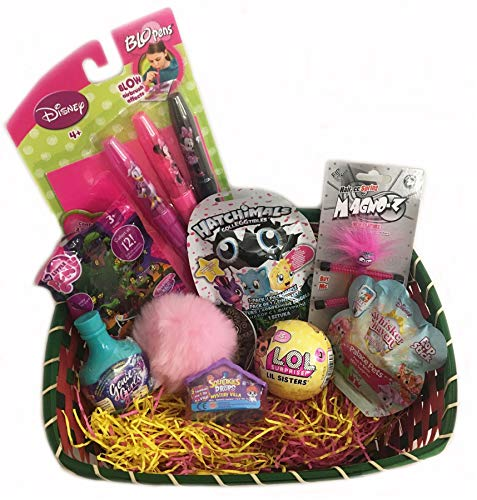 Kooky Kids small Gift Toy Basket Gift Package for Christmas Girls, Birthday with LOL Hatchimals and more (Distributed from the UK)