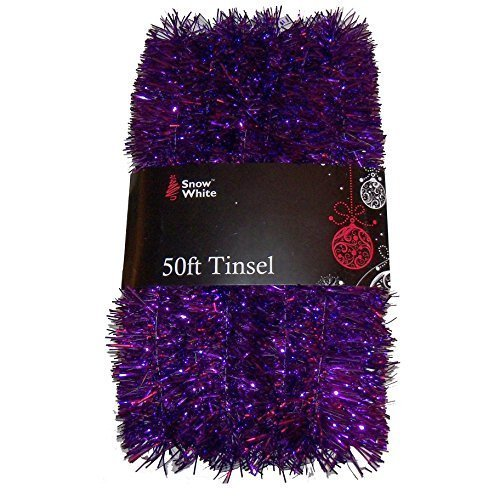PMS 50FT X 2' PURPLE TINSEL W/WRAP AROUND PVC COATED CARD