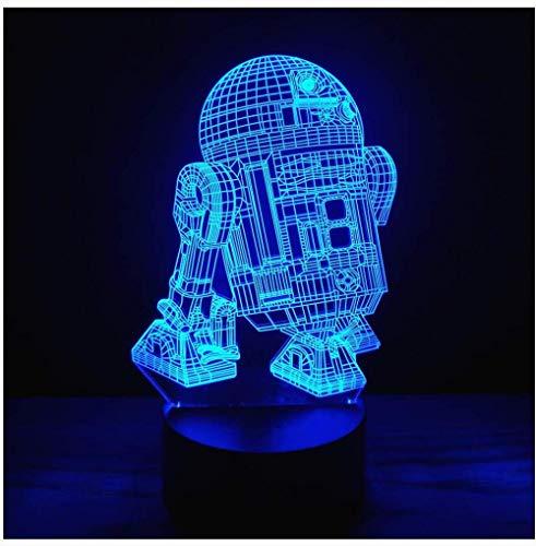3D illusie platform nachtlicht touch-schakelaar 7 kleuren verandering USB Power LED tafellamp voor huishoudtextiel of kerstcadeau 0 50 Watt 500 Volt