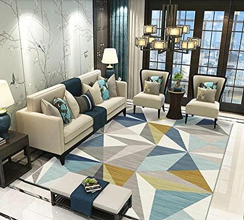 Pasillo Cocina Escalera Diseño Moderno,Casual Simple para Interiores Multi-Color Geométrico Geométrico Decorativo Carpeta de Terciopelo corta-80x120cm