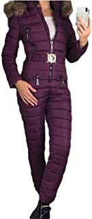 Howely Women Winter Warm Thickened Snow Ski&Snowboard Rompers Parka Jacket