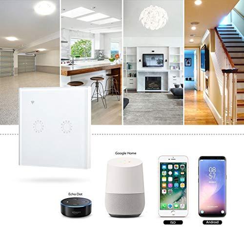 Touch Switch Smart Light Switch Panel Wall, Smart Touch Switches Compatibel met Alexa en Google Startpagina afstandsbediening Wifi Muur lichtschakelaars
