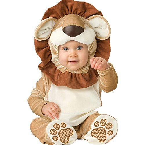 YYF Baby Jungen Mädchen Kleinkinder Animal Kostüm Halloween Party Jumpsuit Winter Strampler Löwen 80cm