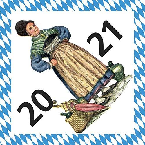 Turmschreiber Tageskalender 2021: Witz und Weisheit aus Bayern