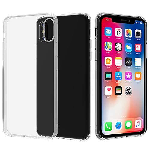Migeec Hülle für iPhone X/XS Transparent [Stoßfest] Weiche Silikon [Kratzfest] Flex TPU Bumper handyhülle Durchsichtige Schutzhülle