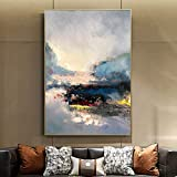 SUMIANYH 100% Hand-Painted Oil Paintings Hand-Painted Oil Painting Nordic Style Abstract Painting Living Room Sofa Background Wall Painting Modern Minimalist American Mural,70×100Cm