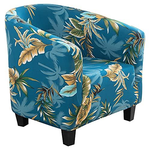 Cysincos Sesselhusse Stretch Cocktailsessel Hussen, Sesselschoner Couch Überwurf Sesselbezug Sesselüberwurf elastisch Sessel Überzug Elch Weihnachten Muster für Cafe Loungesessel
