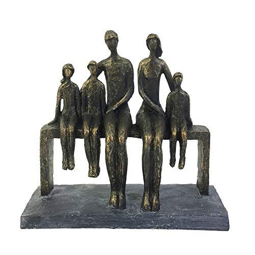 Skulptur aus Polyresin, 25,4 cm, bronzefarben
