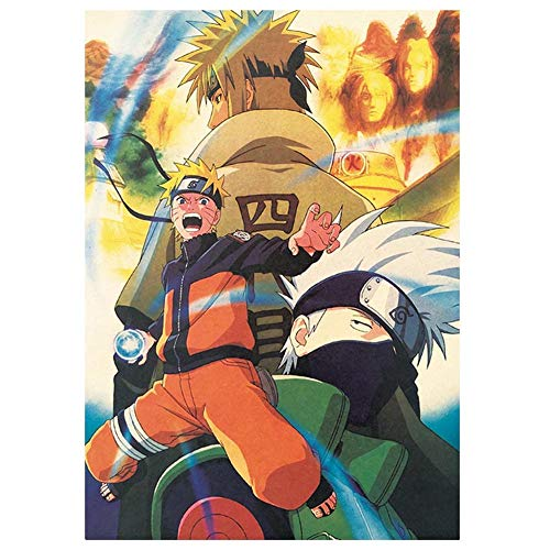 Bowinr Naruto Poster, 50.5x35cm/20'x13.8' Japanese Animation Naruto Shippuden No Fading Art Print Poster for Kids Teens and Anime-Fans(Style 04)