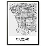 JUNOMI® Los Angeles Poster XL Schwarz Weiss, DIN A2