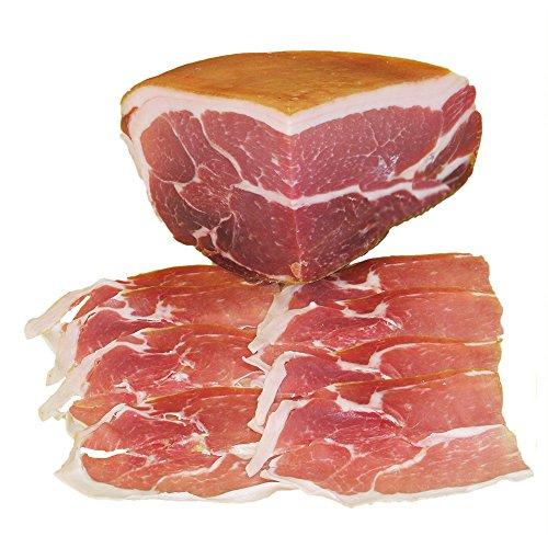 Prosciutto di Parma dop Trancio, stagionato 16 mesi, sotto vuoto. Peso 1,900 Kg.