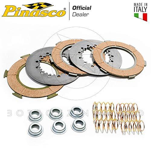 PINASCO KIT DISCHI FRIZIONE PINASCO SET 6 MOLLE E BICCHIERINI FORATI PIAGGIO VESPA PX 125 150 LML STAR 2T ART. 25090604