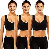 Mangotree Sport BH für Damen Bustier BH Ultimate Nahtlos Yoga Tops Ohne Bügel Racerback Top mit Gepolsterte Cups