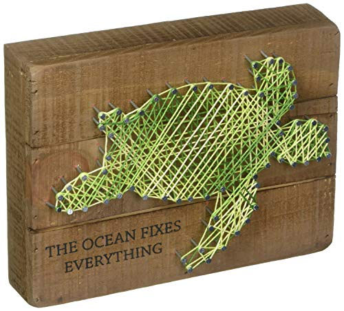 Primitives by Kathy String Art Wood Sign, 8 x 6, The Ocean Fixes Everything