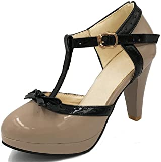 heelchic Women's Elegant Bowtie High Heel Pumps Shoes Ladies Casual Dress Stilettos Heels
