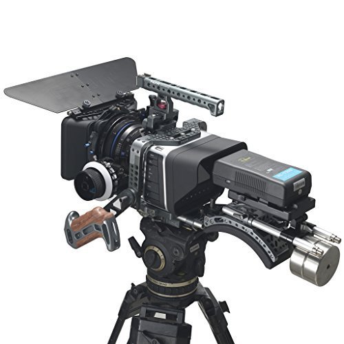 Tilta TT-BMC-07 Blackmagic Cinema Camera Blackmagic Production Cinema Camera Cage For BMCC BMPC 4K Shoulder Cámara Rig Cage 15mm Rod + Follow Focus (FF-T03)+ shoulder Pad + 4*4 Matte Box (MB-T05) + V-Mount Battery Plate Power Supply (BT003A) + Offset shoulder pad