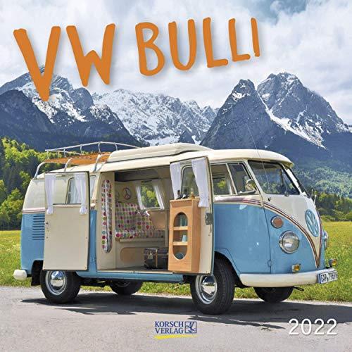 VW Bulli 2022: Broschürenkalender mit Ferienterminen. Wandkalender als Hommage. 30 x 30 cm