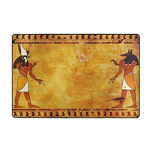 NA Alfombra Egipcia Africa Alfombra de Piso Antideslizante con diseño étnico, cómoda,...
