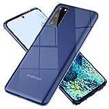 NALIA Clair Housse Compatible avec Samsung Galaxy S20 FE Coque, Transparent Cristal Cover Rigide & Silicone Bumper, Dure Résistant aux Rayures, Slim Plastique Anti-Choc Couverture Mince - Transparent