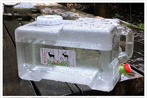 Bidón de agua Bidón Plástico Con Grifo Bebida Contenedor De Agua Para Nevera Almacenamiento De Agua Para Huracán Emergencia Tanque De Agua Del Coche Para Camping Al Aire Libre Tour Sin Conductor