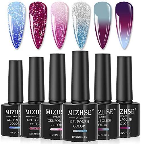 MIZHSE Poly Nail Gel Polish Soak Off UV LED Gel Color Changing Nail Polish Temperature Change product image