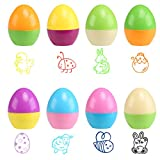 Naler 8PCS Happy Easter Egg Timbro autoinchiostrante per Bambino da Decorare Carta & Craft Party Game Gift 43 mm * 34 mm