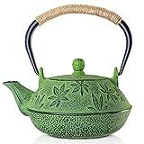 Chaleira de ferro fundido, chaleira japonesa Tetsubin de sotya (700 ml, verde)