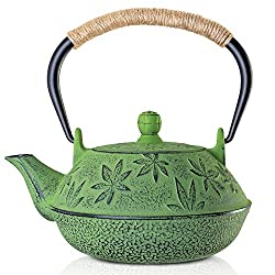 Sotya Cast Iron Teapot Japanese Tetsubin Tea Kettle Durable Cast Iron with a Fully Enameled Interior