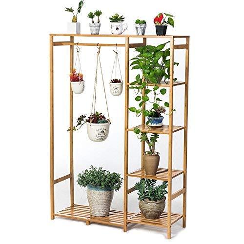 WYJW Plant planken voor bloemplanten Balkon Voetstuk meubels Massief hout bloem planken Woonkamer Multilayered wandplanken voor vetplanten Topfregal voor buiten/binnen balkon