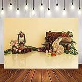 Fondo de fotografía Primavera Zanahoria Huevos de Conejo bebé niño Fiesta decoración Foto teléfono telones de Fondo A1 7x5ft / 2,1x1,5 m