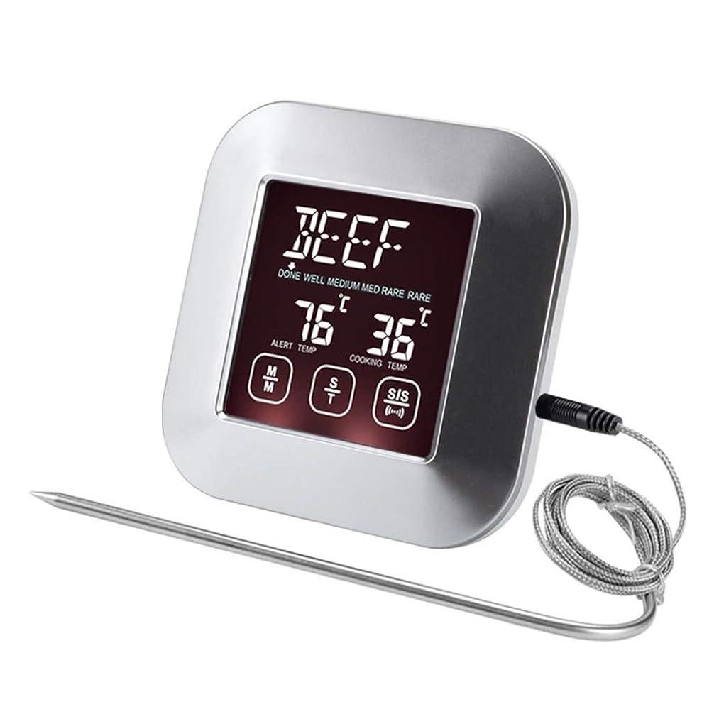 カヌー腹痛トライアスロンデジタルオーブン温度計、BBQ、グリル、オーブン、肉用の大型LCDディスプレイ付きキッチン調理温度計タイマー