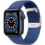 Songsier Cinturino Compatibile per Apple Watch 38 mm 42 mm 40 mm 44 mm, Cinturino Di Ricambio in Fibra di Silicone Intrecciato Elastico per Serie Iwatch 6 5 4 3 2 1 Se