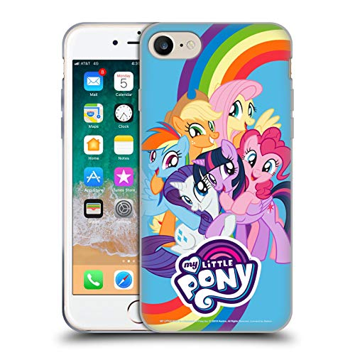 Head Case Designs Officially Licensed My Little Pony Group Character Art Soft Gel Case Compatible with Apple iPhone 7 / iPhone 8 / iPhone SE 2020