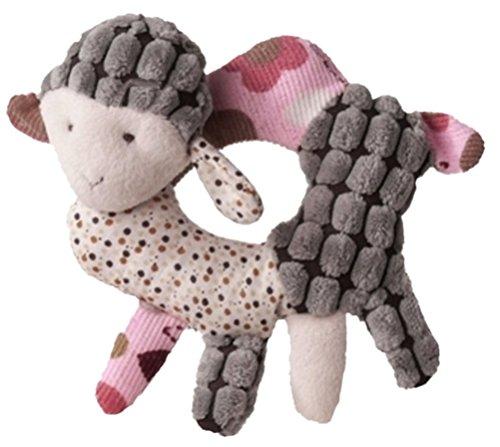 Inware 7961 - Hochet Mouton Sweety, beige/rosa, 12 x 10 cm